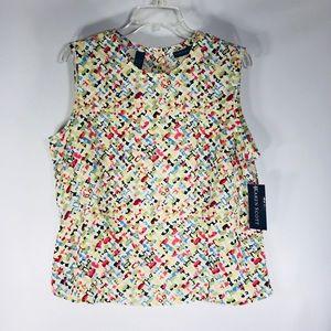 Karen Scott, sleeveless button down back top